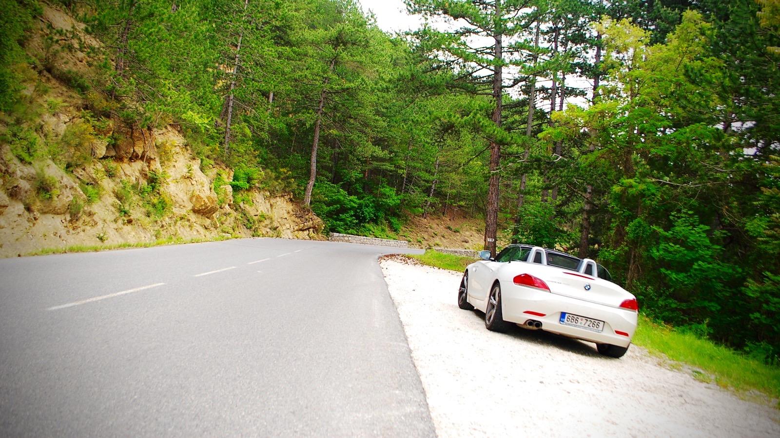 BMW Z4 na Route Napoleon