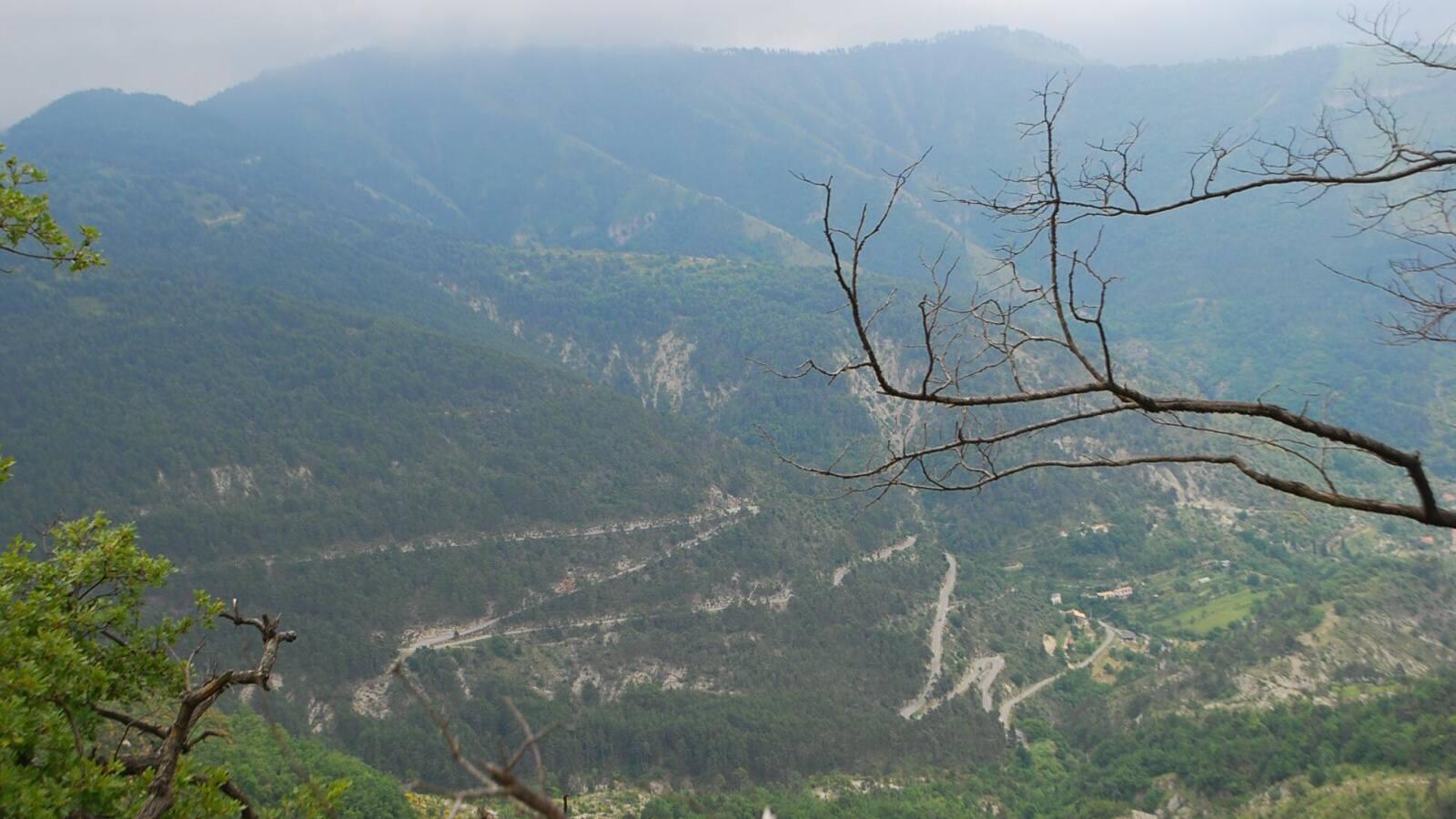vrchol prusmyku Col de Turini