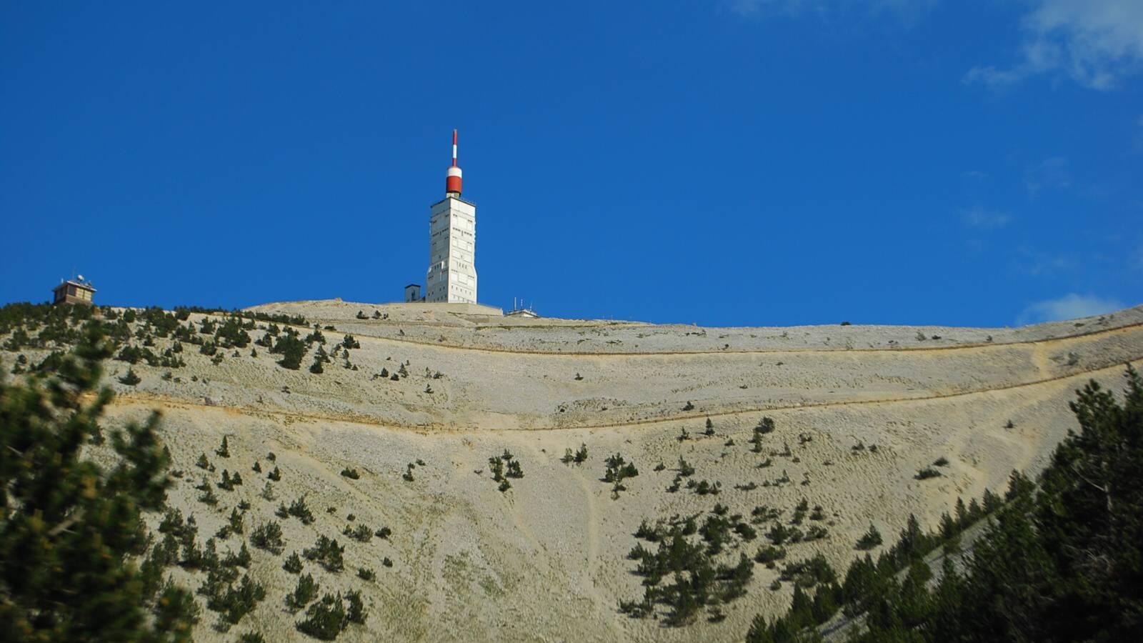 Vrchol hory Mont Ventoux