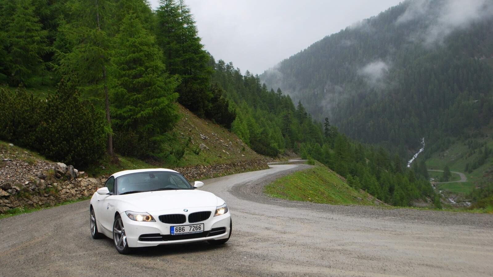 BMW Z4 a Umbrail pass