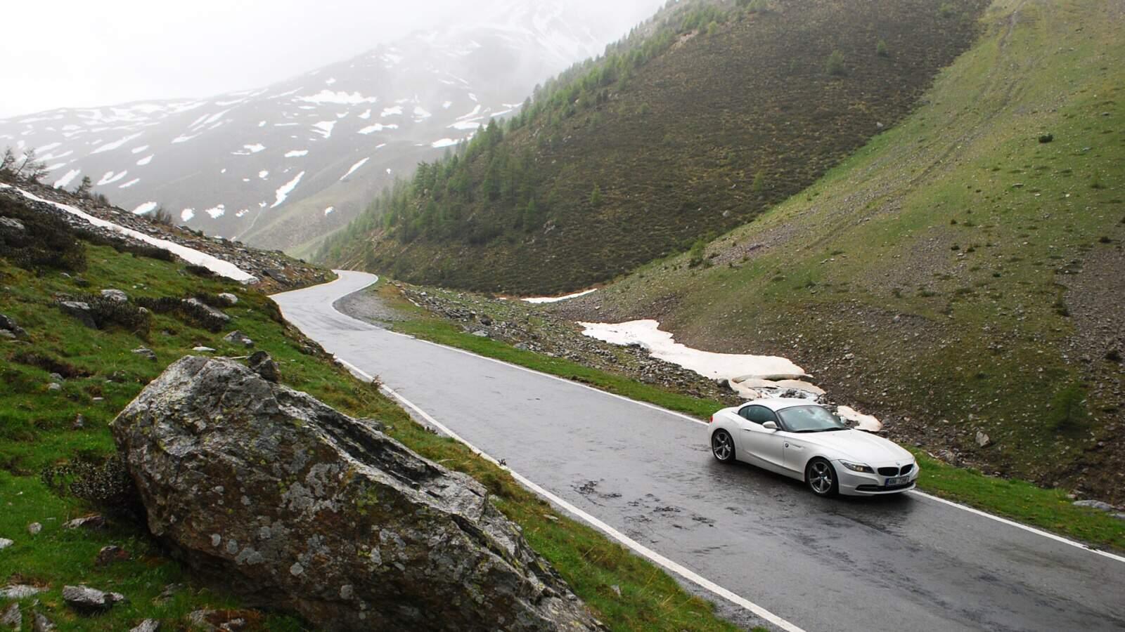 Umbrail pass s BMW Z4