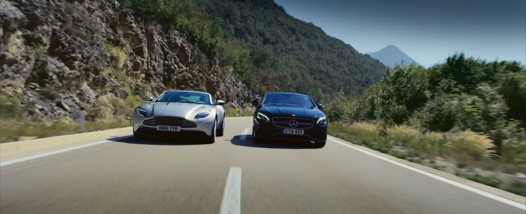 Aston Martin DB11 a Mercedes Benz S AMG Coupe vedle sebe