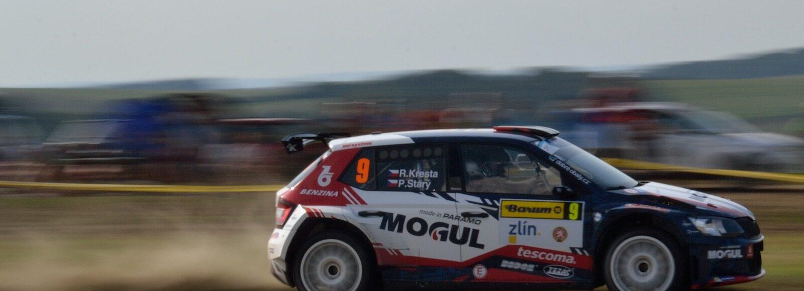 Roman Kresta v Škoda Fabia R5 na Barum Rally