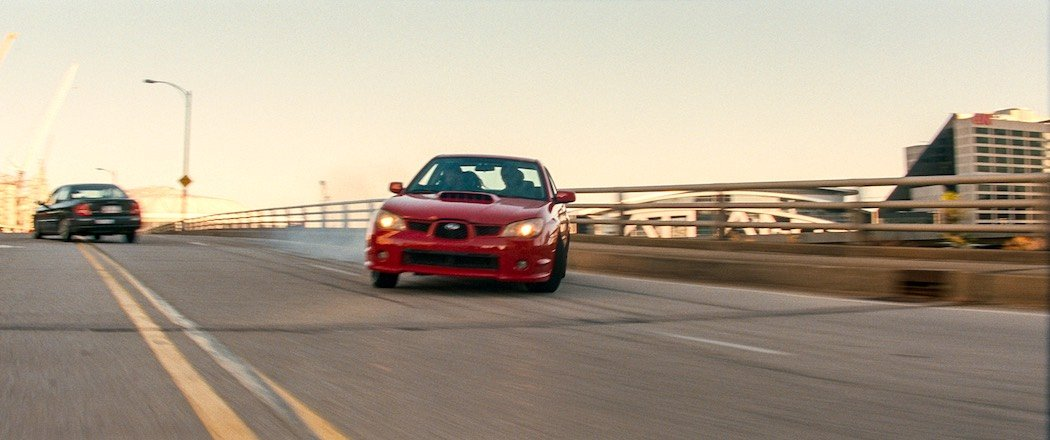 Car chase from TriStar Pictures' BABY DRIVER.
