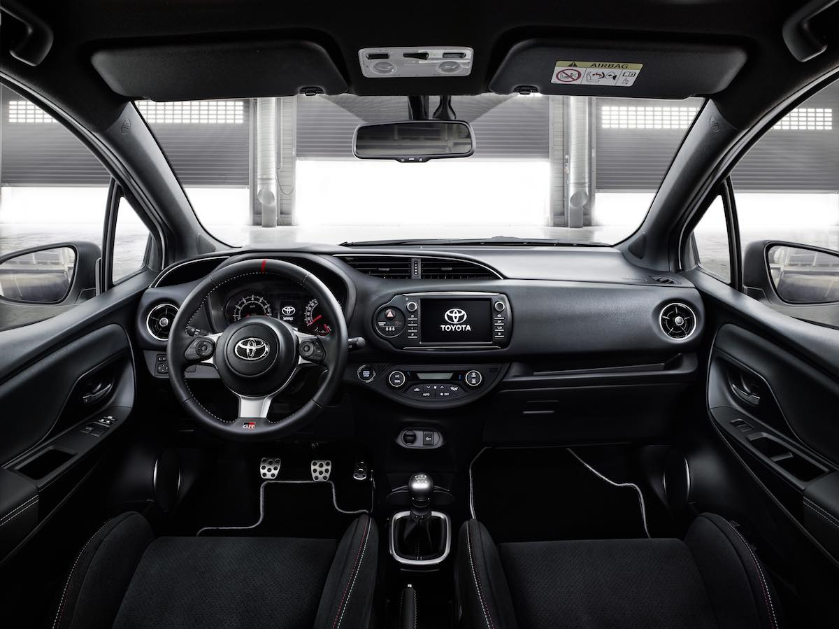 interior of toyota yaris grmn