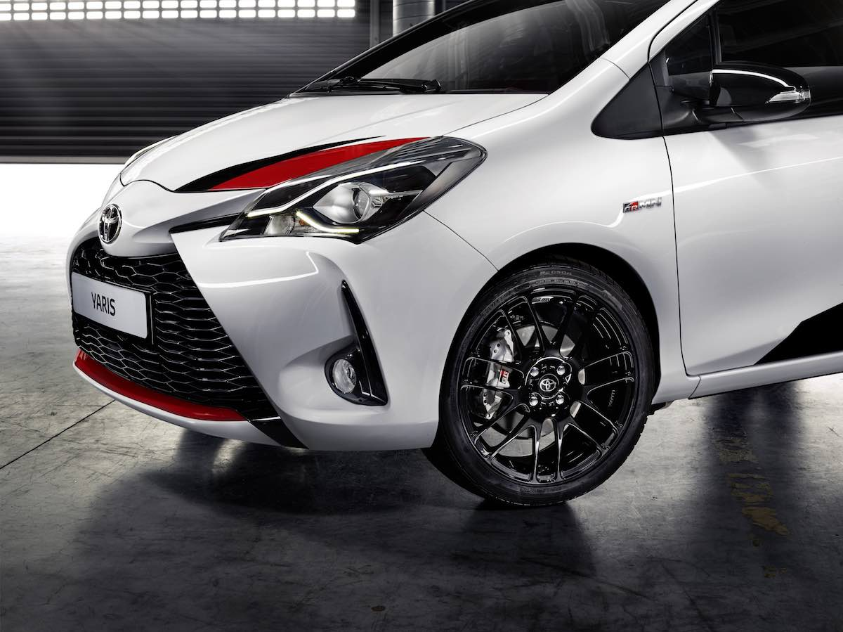 toyota yaris grmn front wheels