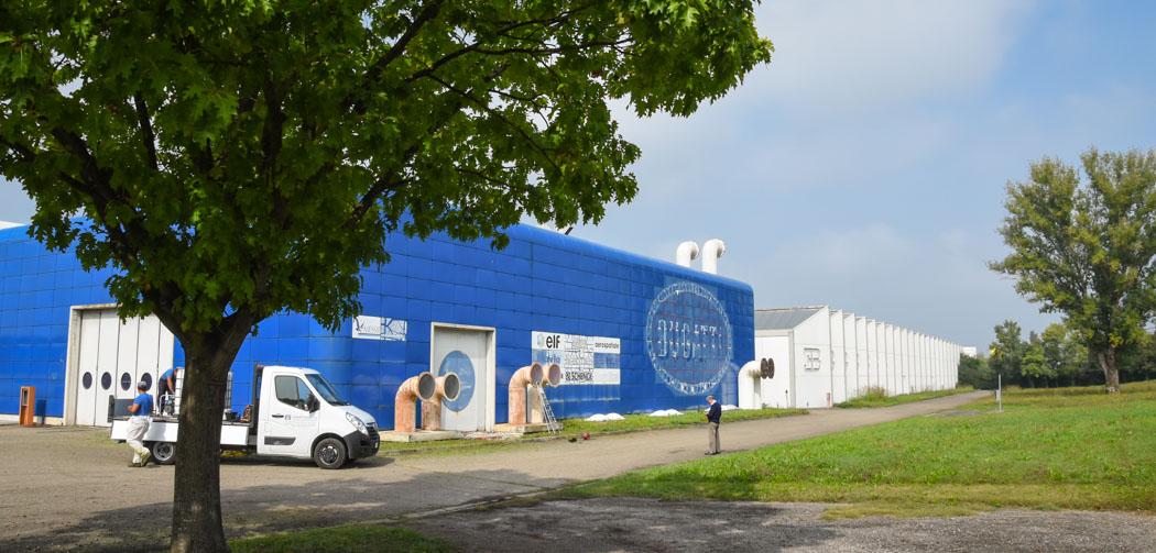 opuštěná továrna bugatti v itálii