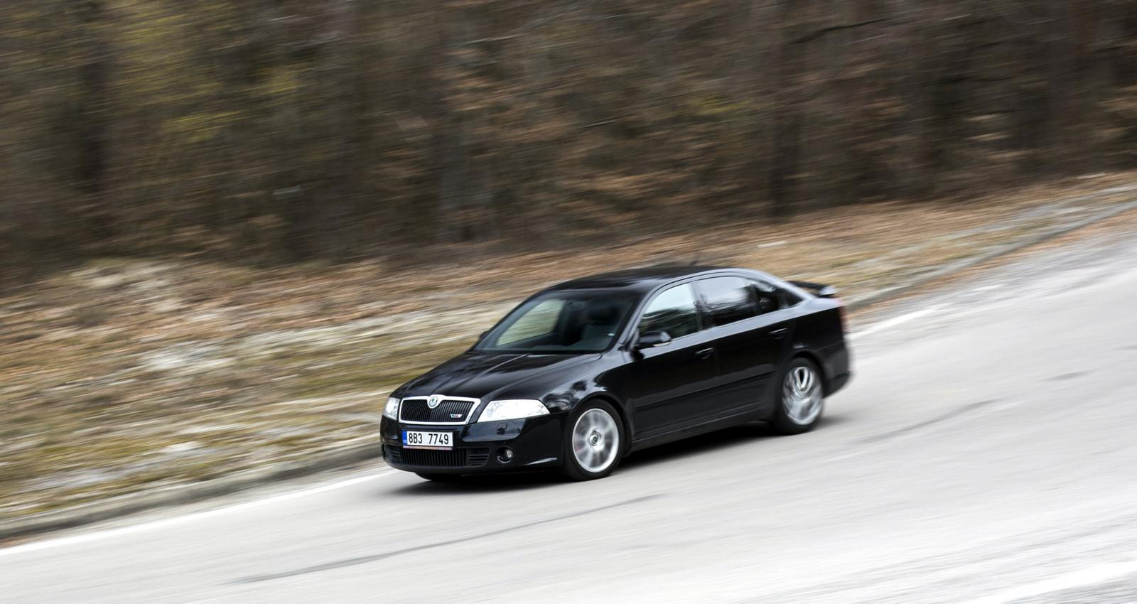 Skoda Octavia RS v pohybu