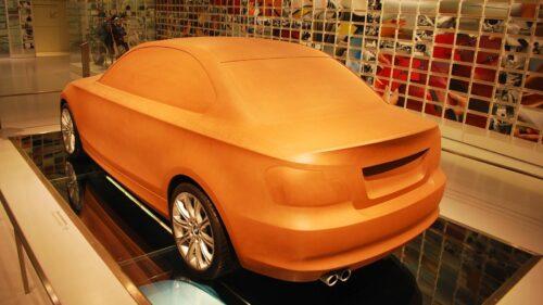 Hliněný model kupé řady 1