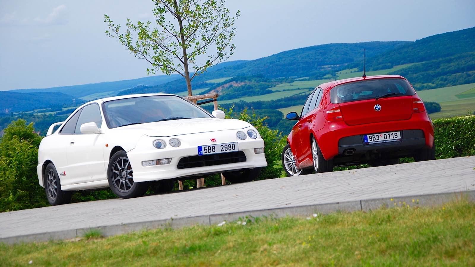 Honda Integra TypeR a BMW 120d E87