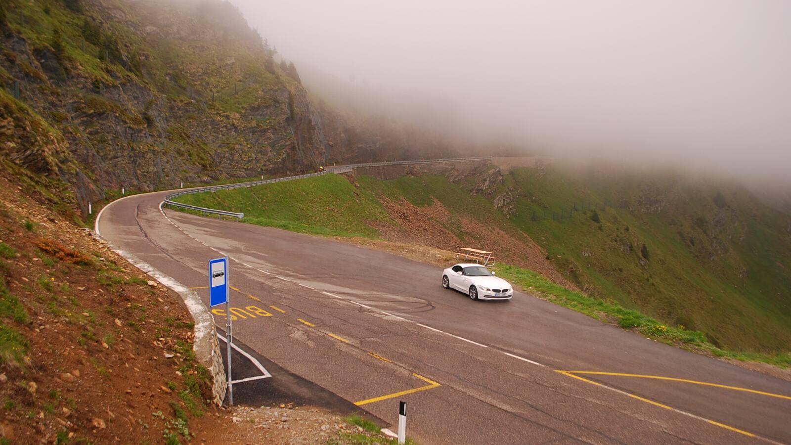 Horská silnice s BMW Z4
